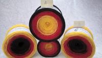 schwarz rot gold - Sonderpreis Bobbel - 4fädig 3 Farben - LL ca. 760 m/200g